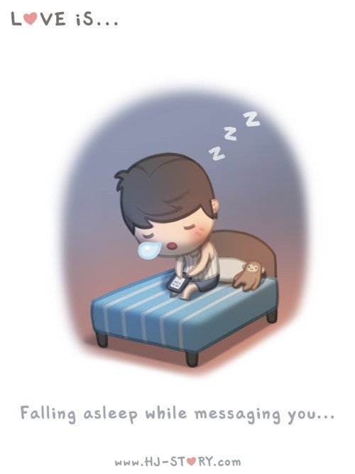 asleep-while-messaging-you